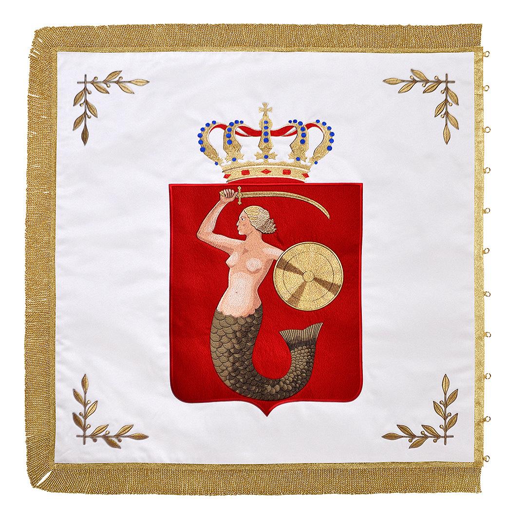 sztandar haftowany syrenka warszawska