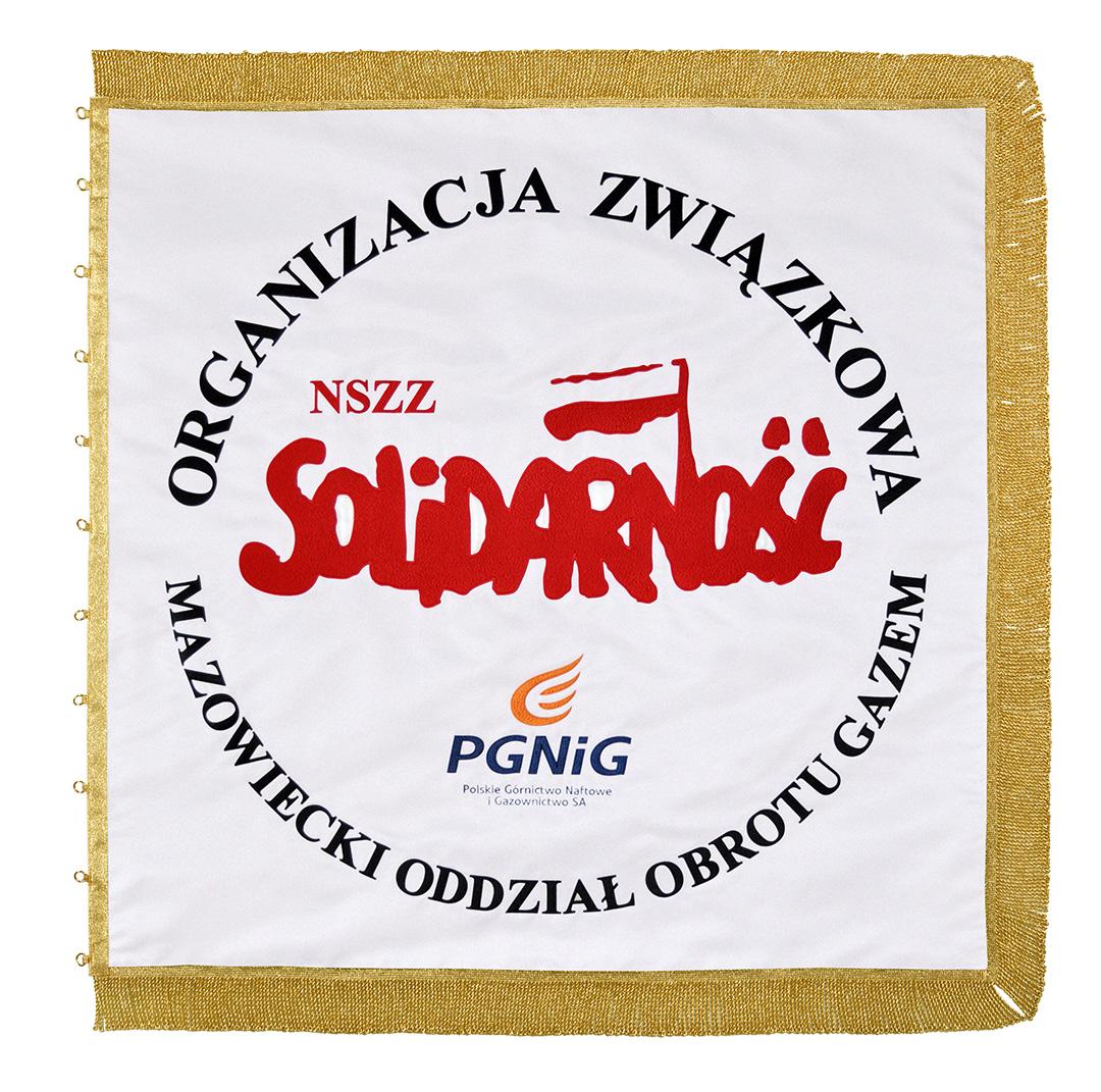 Sztandar haftowany nszz Solidarność