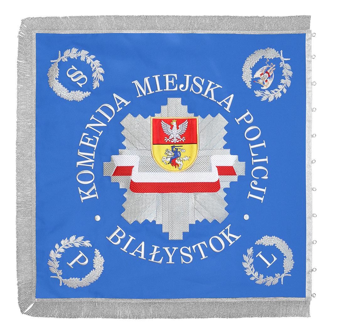 sztandar haftowany komenda miejska policji białystok
