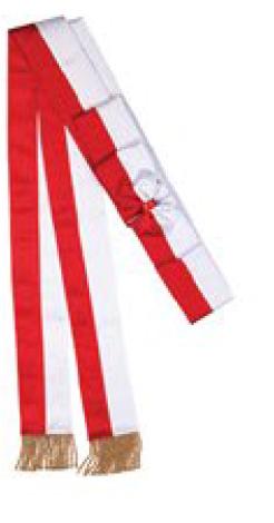 szarfa czerwona odznaczeniowa do pocztu